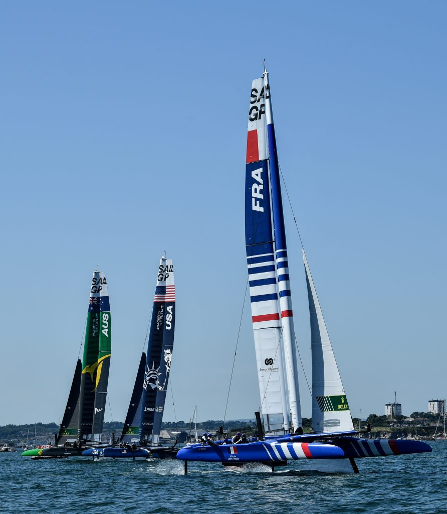 Team Australia, USA and France on the water.