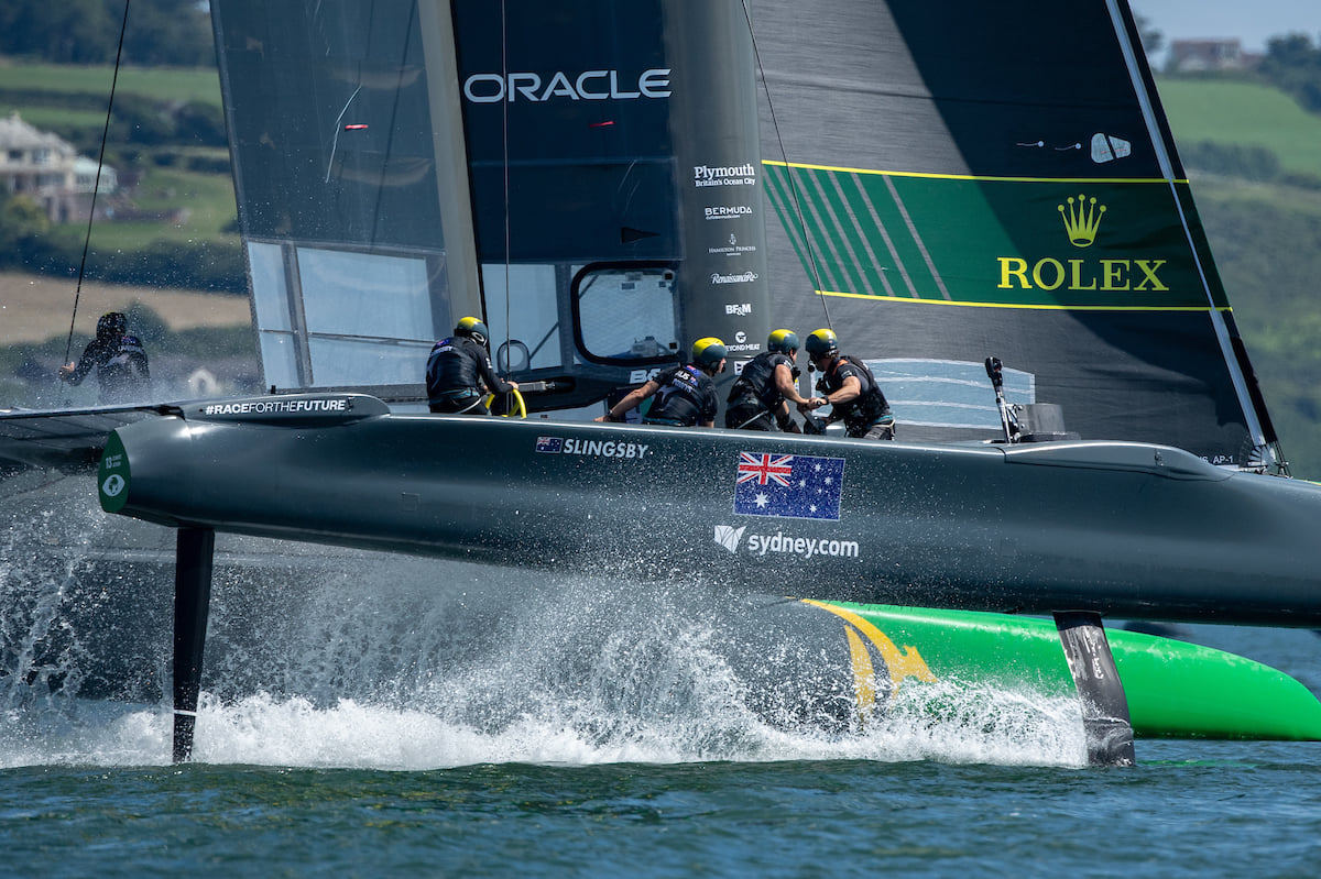 Team Australia looking fast at SailGP
