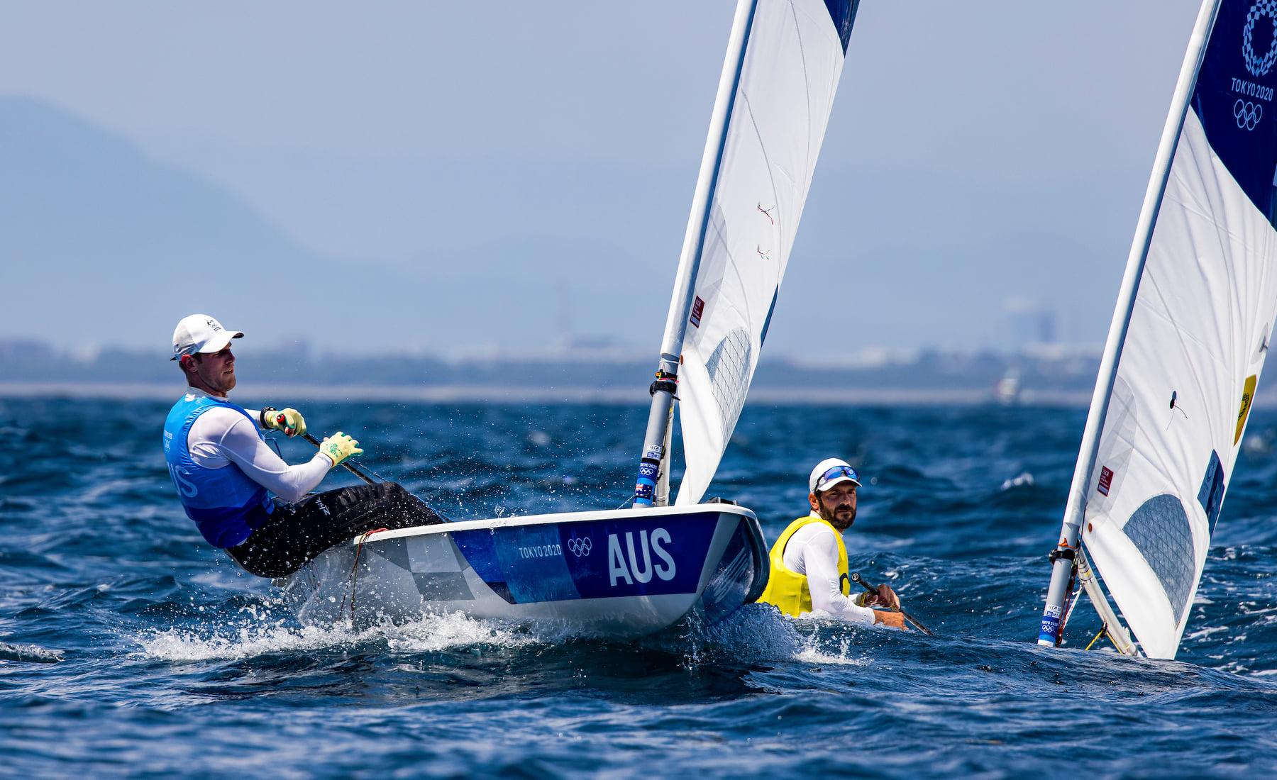 Matt Wearn sailing upwind