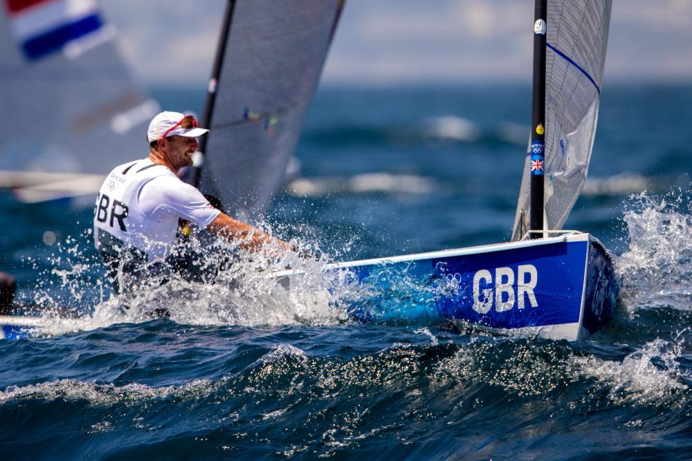Giles Scott (GBR) in the Finn