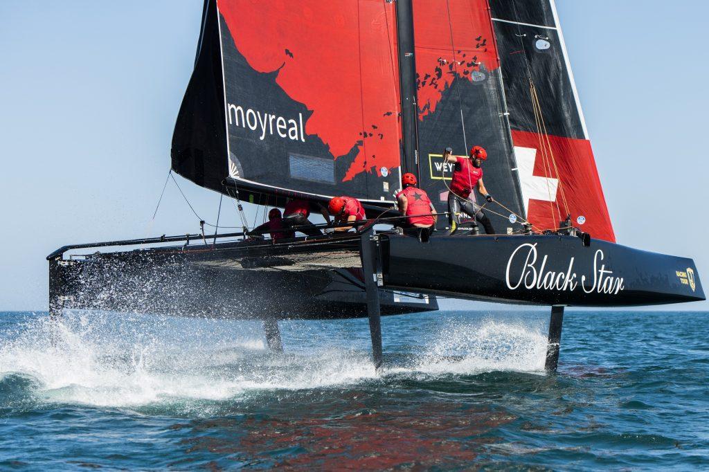 Black Star Sailing Team at pace