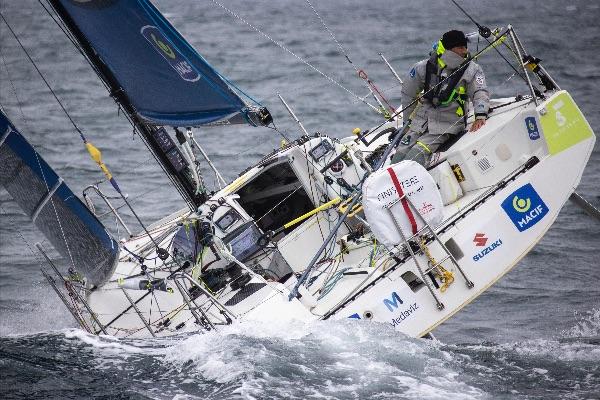 Pierre Quiroga sailing upwind