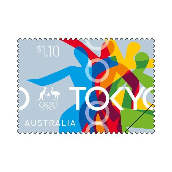 Tokyo 2020 stamp