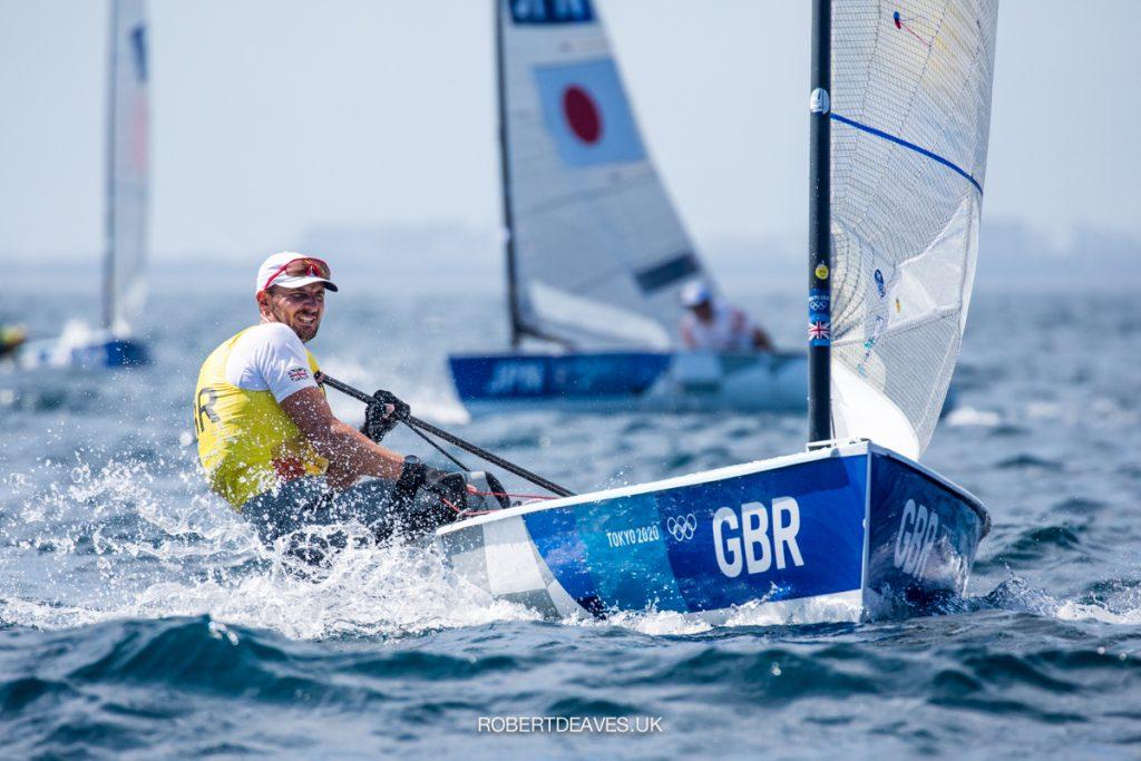 Giles Scott sailing