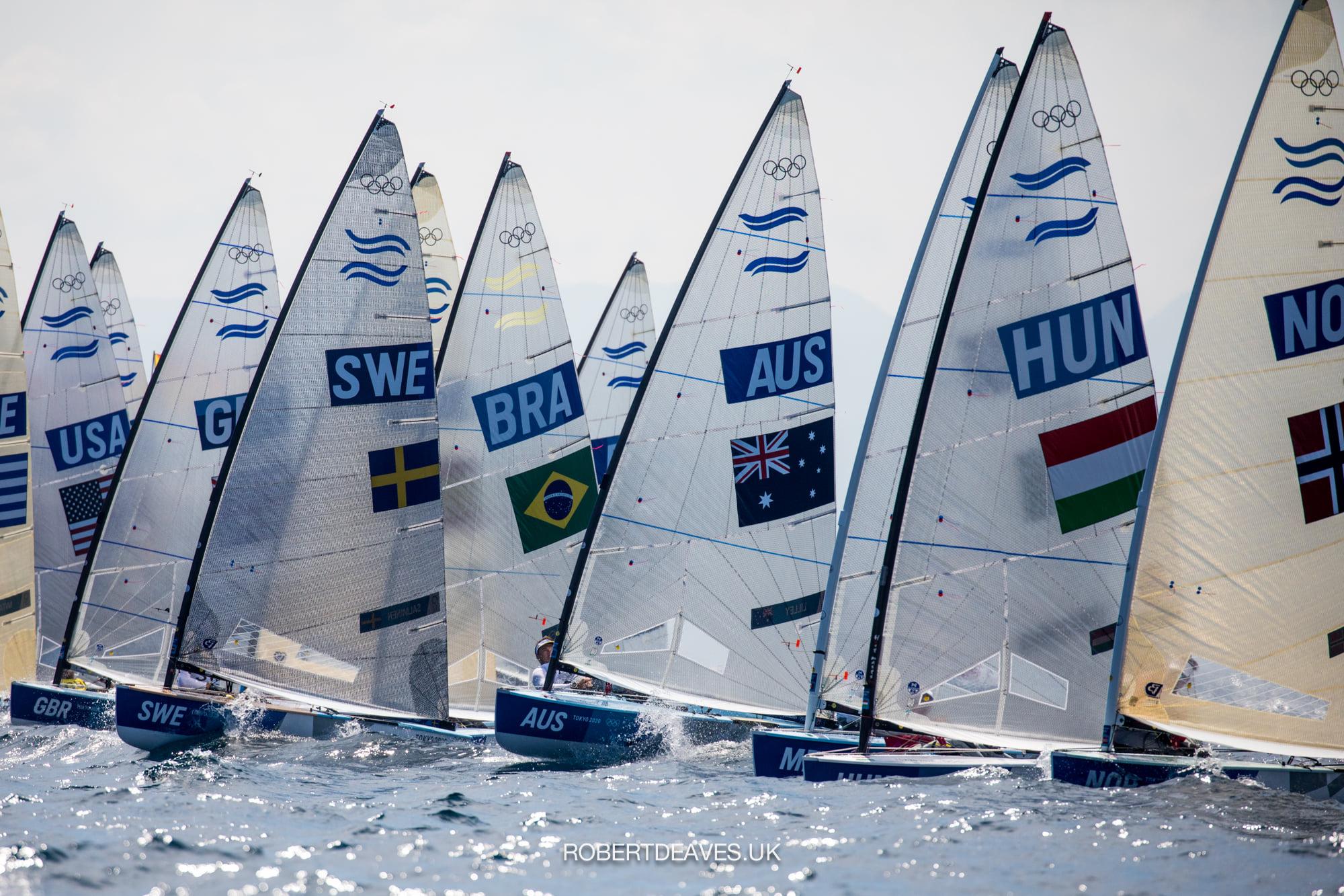 Finn race start