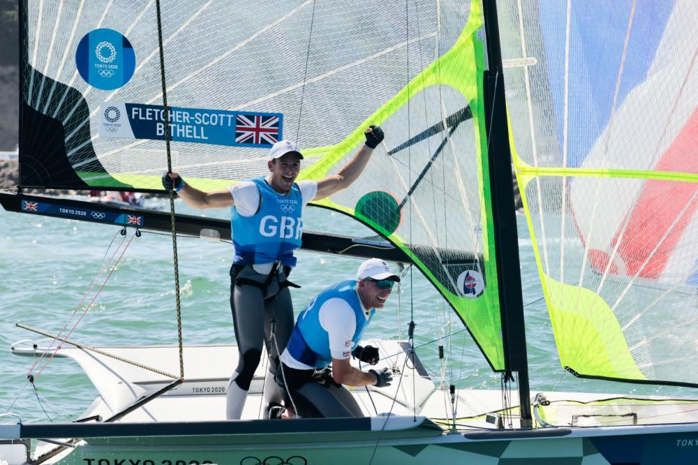 49er sailors Dylan Fletcher and Stu Bithell (GBR) have won the gold medal after coming second in the Medal Race.