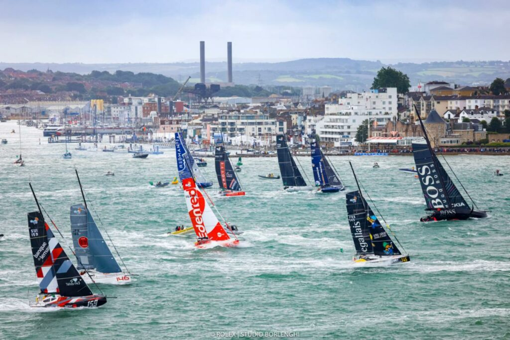 IMOCA 60 and Class40 start off the Royal Yacht Squadron, Cowes in the Rolex Fastnet Race