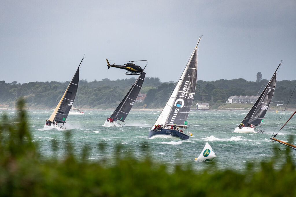 Windy start to the 2021 Rolex Fastnet Race