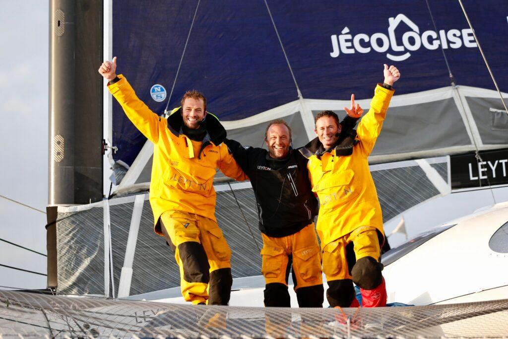 The Leyton crew celebrating their win