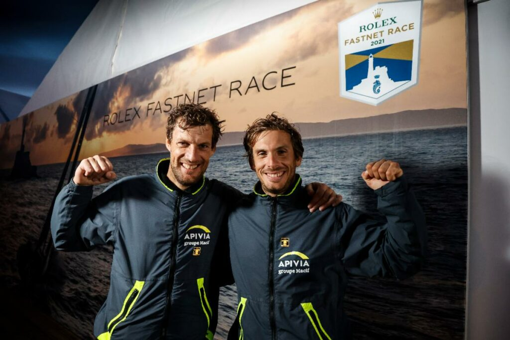 Rolex Fastnet Race victory in the IMOCA class for the hugely talented Charlie Dalin and Paul Meilhat on Apivia.