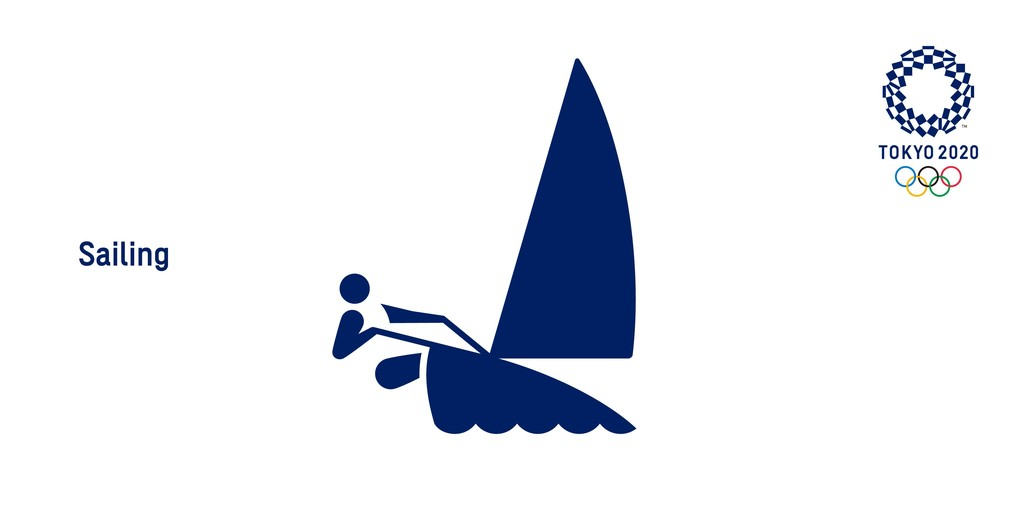 Tokyo 2020 sailing logo