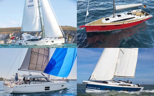 Some of the most notable new yachts heading to the 2021 Southampton Boat Show (clockwise from top-left): Southerly 48; Dehler 38SQ; Dufour 470; Moody 41DS.