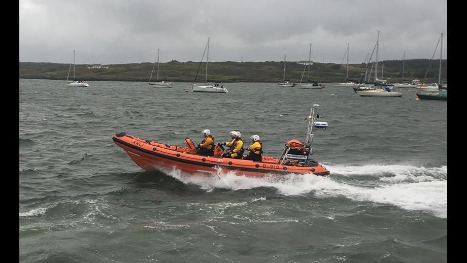 Rescue team on a RIB