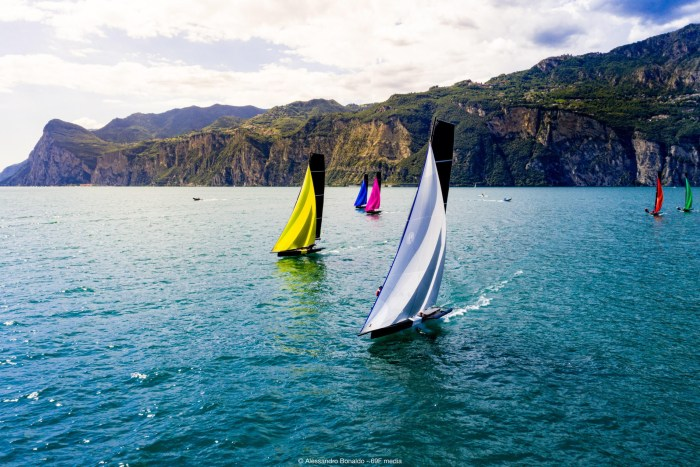 Lake Garda provides a stunning backdrop for the Youth Foiling Gold Cup.