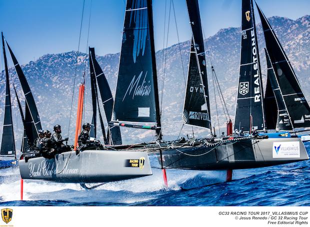 GC32 boats racing at Villasimius
