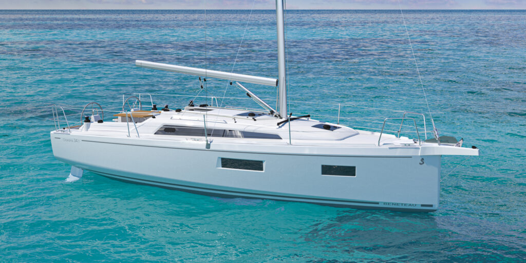 Side view of the new Oceanis 34.1