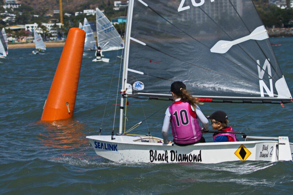 Edith Cullinane and Zachary Tait (NSW) sailing Black Diamond