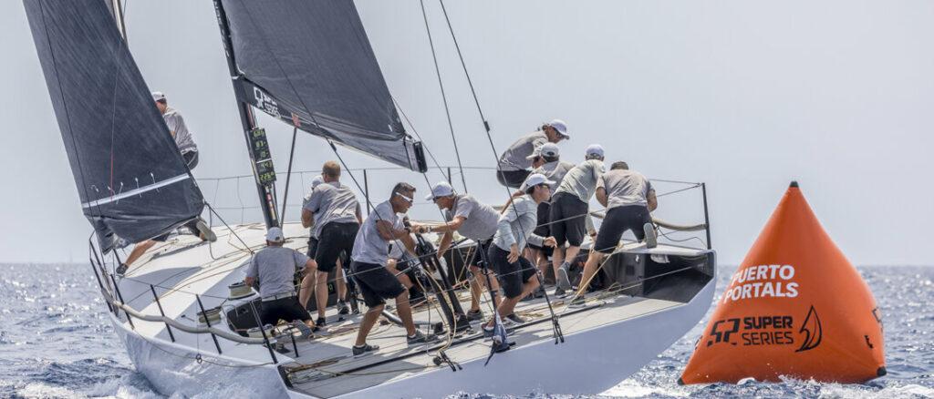 Takashi Okura's Sled team sailing upwind