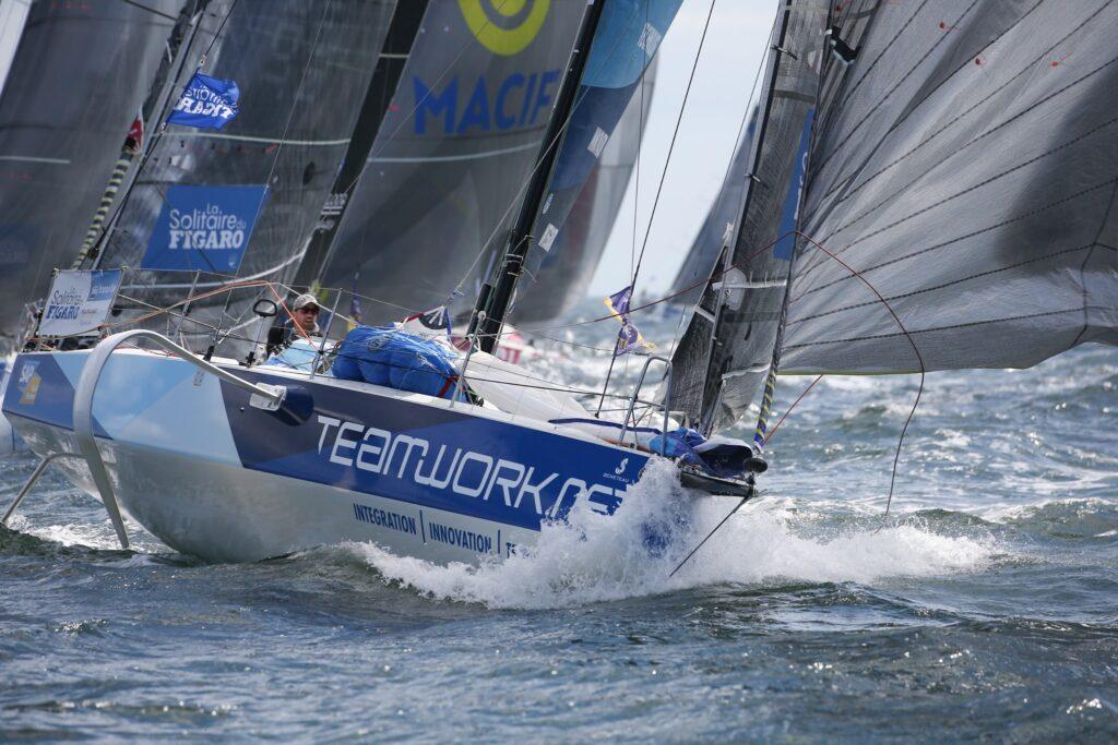Switzerland's Nils Palmieri (Teamwork) on a reach.