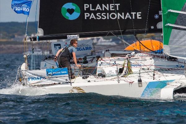 Tom Laperche sailing upwind.