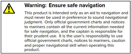 GPS manual warning.