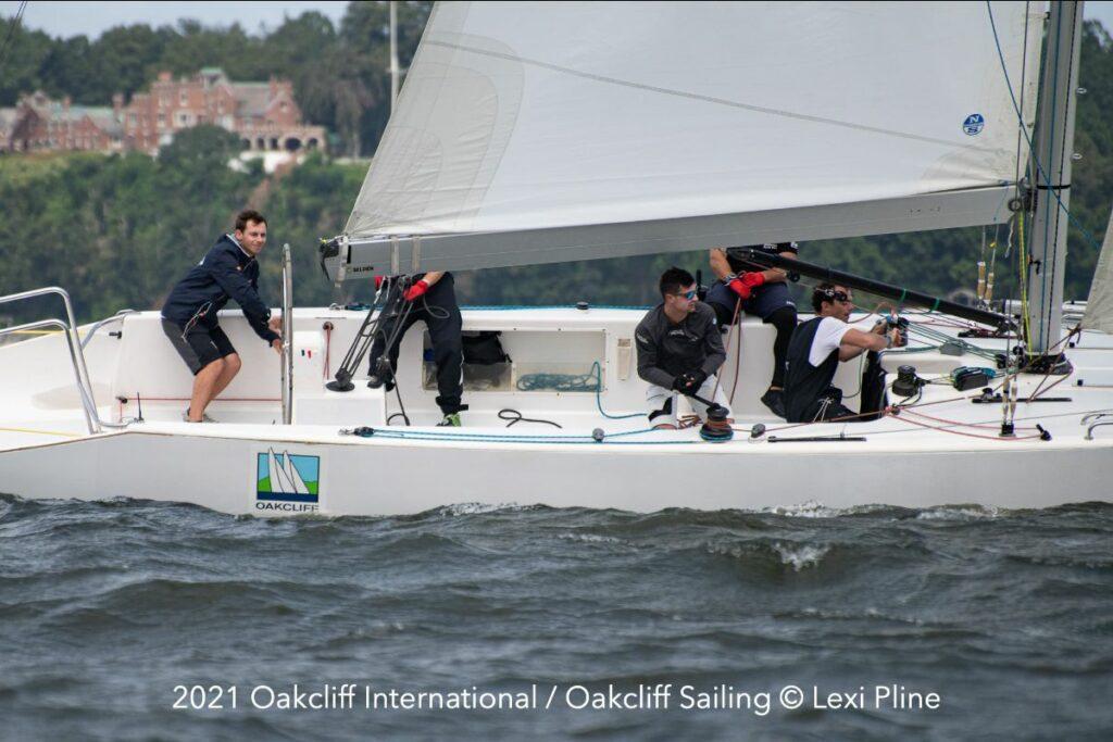 Aurelien Pierroz (FRA) and his crew racing.