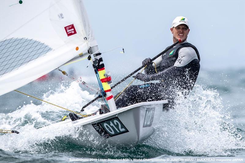 Tom Burton sailing upwind