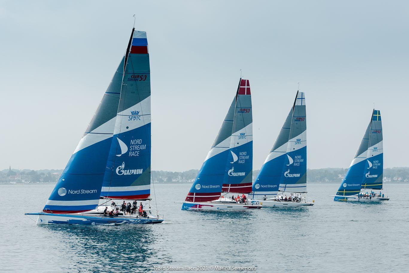 The fleet after the race start.
