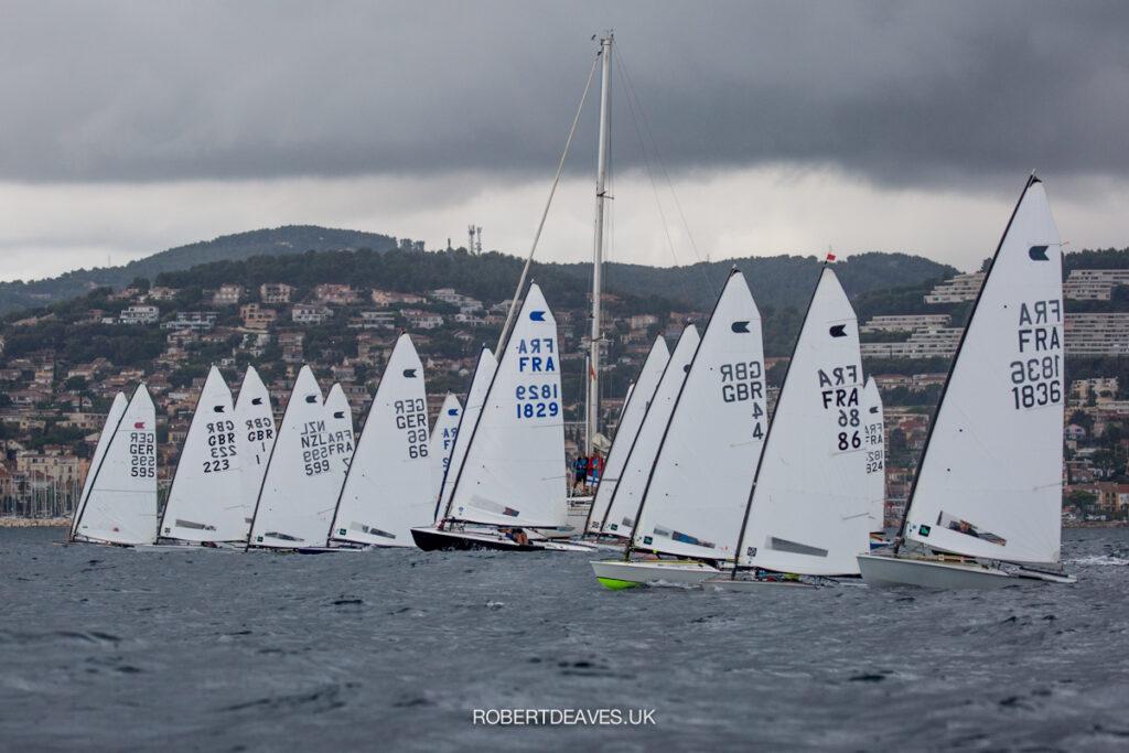 Fleet after the race start.
