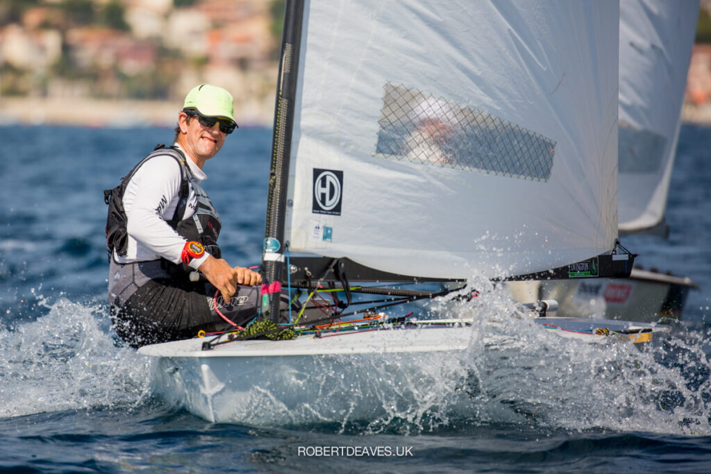 Nick Craig sailing upwind