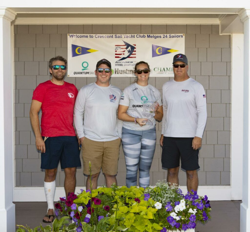 Second Place - Scot Zimmerman, Andy Girrell, Katy Zimmerman, Kevin Fisher from Bad Idea at awards ceremony.