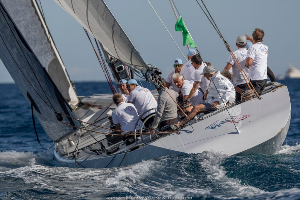 French Kiss sailing upwind.