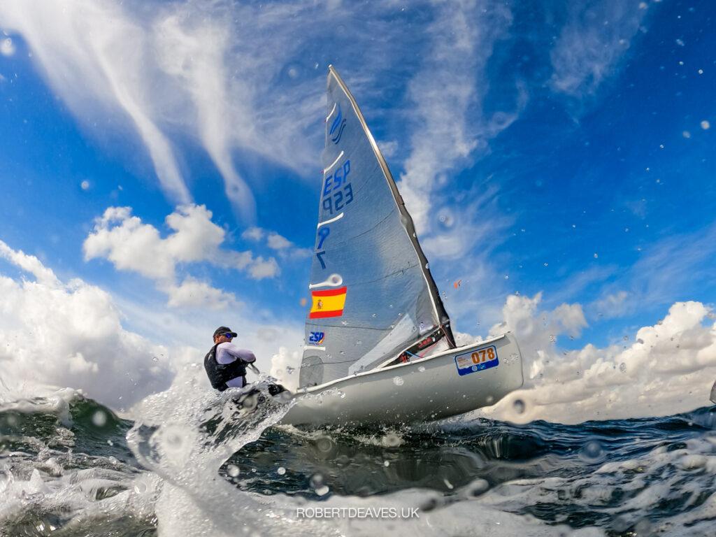 Photo of David Terrol sailing upwind