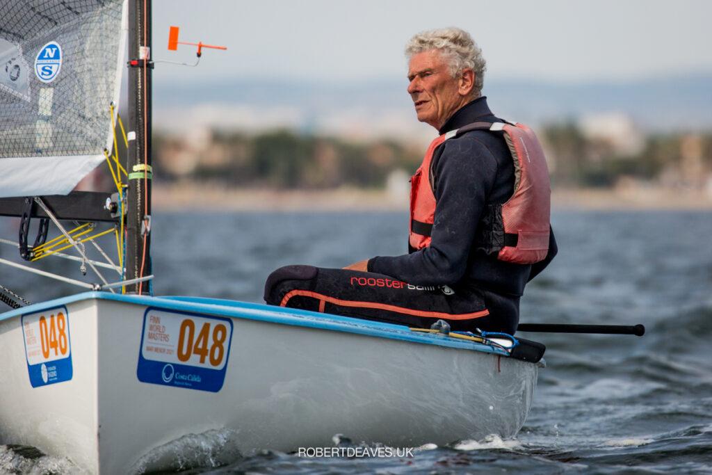 Richard Hart sailing downwind