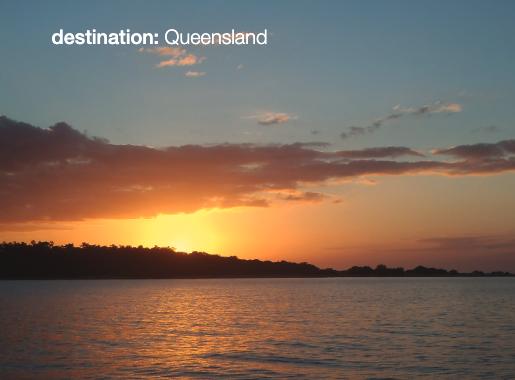 Sunset over headland.