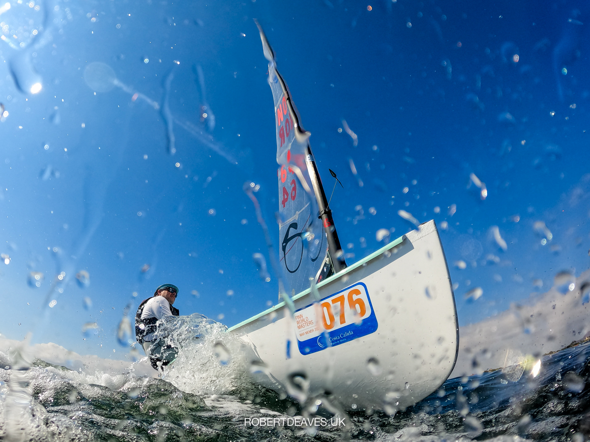 From the water up: Petter Fjeld sailing upwind