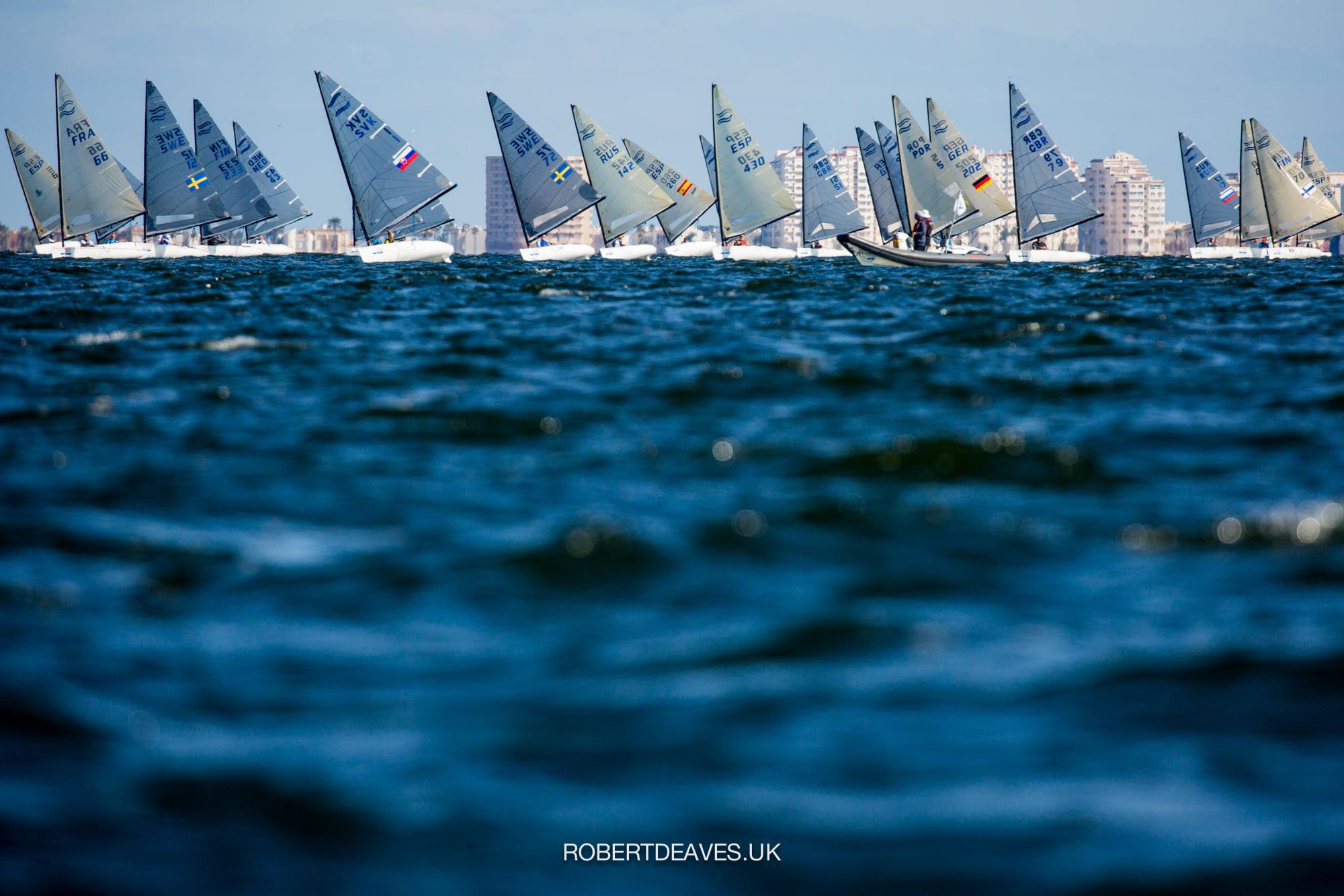 Fleet sailing downwind
