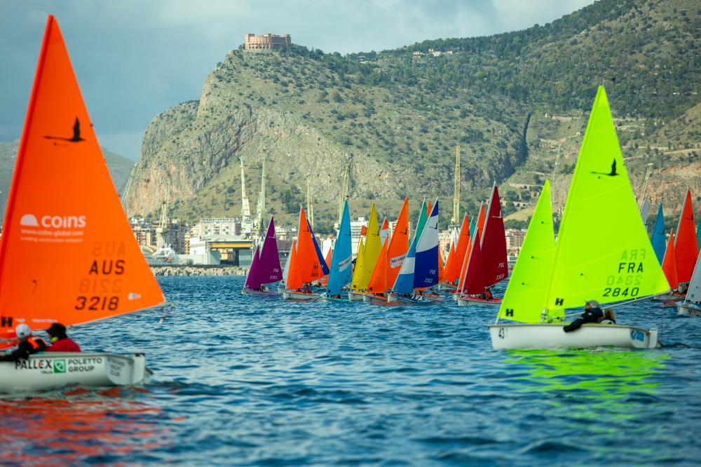 Hansa fleet with backdrop of mountains.
