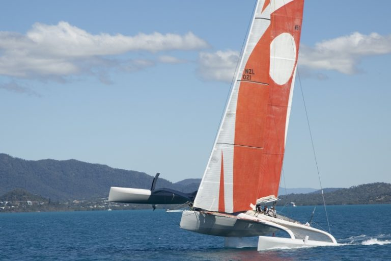 Multihull leaning over