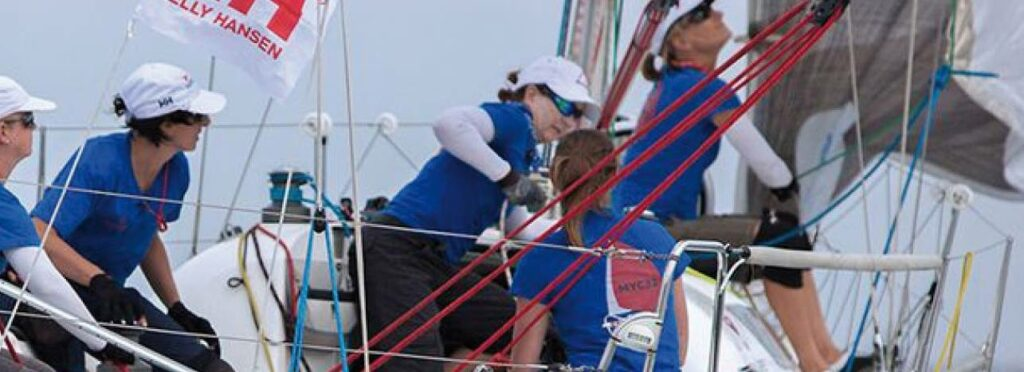Women wearing IceRays while sailing on a yacht.