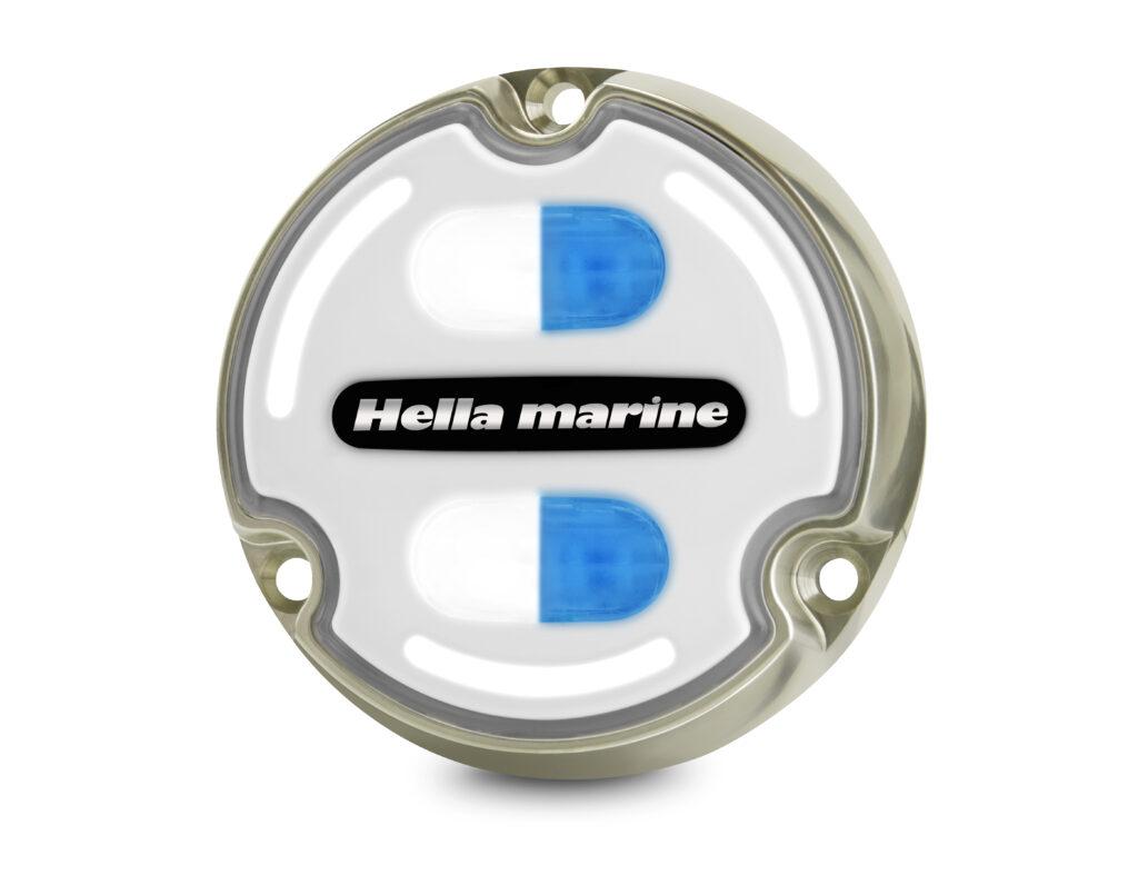 Hella Marine Apelo 2LT. White and blue lights.